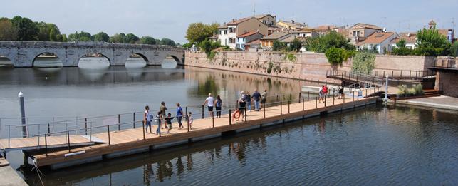 Inaugurata la passerella galleggiante sul Canale Porto Antico – Floating Piers Rimini